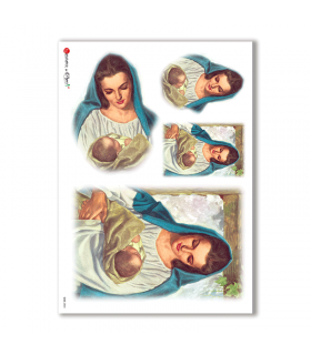 CULT-0033. Papel de Arroz sacras para decoupage.