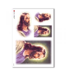 CULT-0035. Papel de Arroz sacras para decoupage.