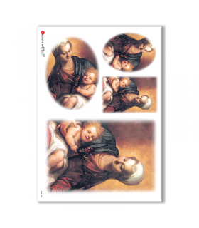 CULT-0037. Papel de Arroz sacras para decoupage.