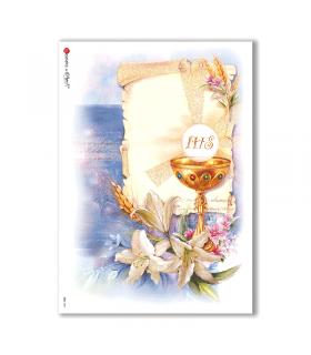 CULT-0041. Carta di riso sacra per decoupage.