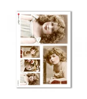 OLD-PHOTOS-0056. Papel de Arroz victoriano para decoupage.