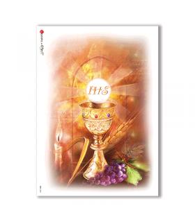 CULT-0042. Carta di riso sacra per decoupage.