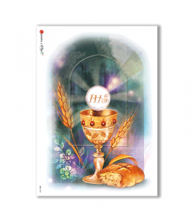 CULT-0043. Papel de Arroz sacras para decoupage.