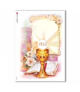 CULT-0044. Carta di riso sacra per decoupage.