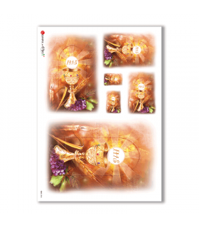 CULT-0046. Carta di riso sacra per decoupage.