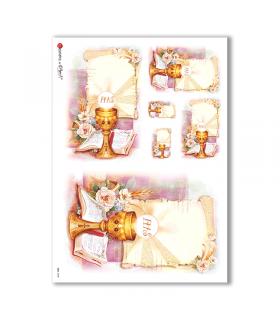 CULT-0048. Carta di riso sacra per decoupage.