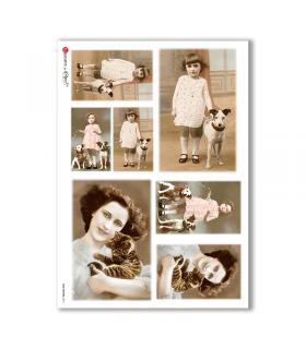 OLD-PHOTOS-0073. Papel de Arroz victoriano para decoupage.