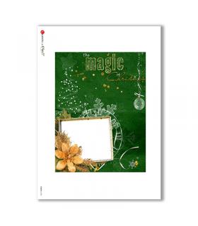 ALBUM-L-0082. Rice Paper album for decoupage.