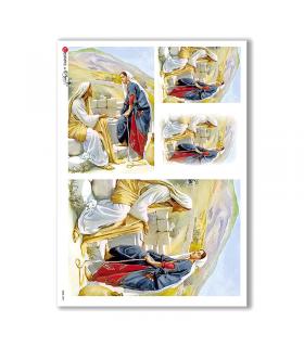 CULT-0051. Papel de Arroz sacras para decoupage.