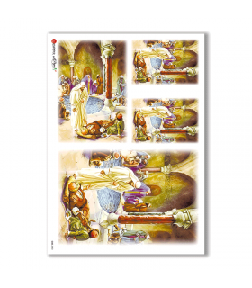 CULT-0053. Carta di riso sacra per decoupage.