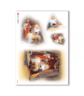CULT-0059. Carta di riso sacra per decoupage.