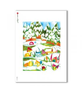 ALBUM-L-0085. Rice Paper album for decoupage.