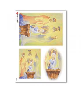 CULT-0084. Carta di riso sacra per decoupage.