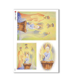 CULT-0084. Papel de Arroz sacras para decoupage.