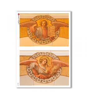 CULT-0095. Papel de Arroz sacras para decoupage.