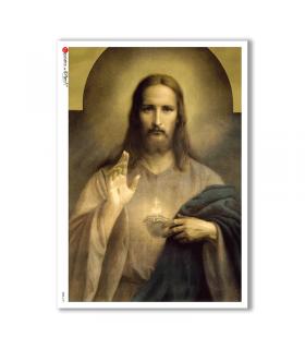CULT-0101. Papel de Arroz sacras para decoupage.