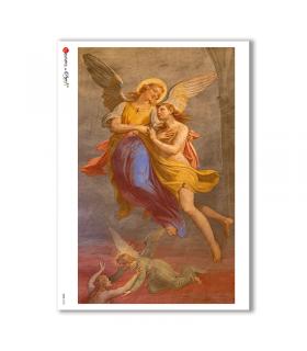 CULT-0103. Carta di riso sacra per decoupage.