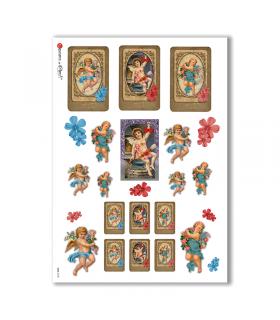 CULT-0105. Papel de Arroz sacras para decoupage.