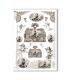 CULT-0106. Papel de Arroz sacras para decoupage.