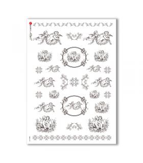 CULT-0109. Carta di riso sacra per decoupage.