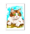 ANIMALS-0012. Carta di riso animali per decoupage.