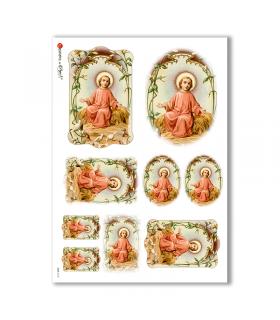 CULT-0123. Carta di riso sacra per decoupage.