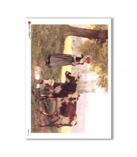 ANIMALS-0021. Carta di riso animali per decoupage.