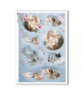 CULT-0132. Holy Rice Paper for decoupage.