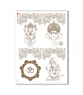 CULT-0133. Carta di riso sacra per decoupage.