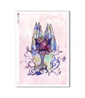 CULT-0135. Carta di riso sacra per decoupage.