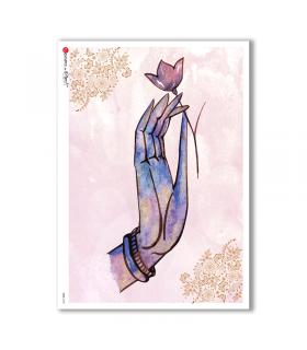 CULT-0136. Carta di riso sacra per decoupage.