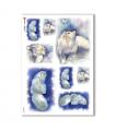 ANIMALS-0039. Carta di riso animali per decoupage.