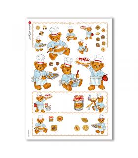 ANIMALS-0050. Carta di riso animali per decoupage.