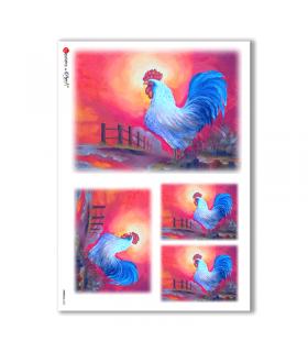ANIMALS-0063. Carta di riso animali per decoupage.