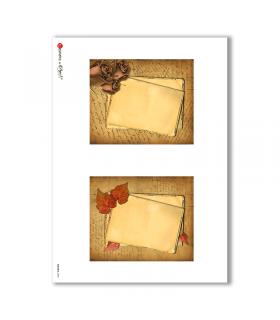 ALBUM-S-0005. Rice paper album small for decoupage.
