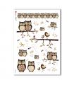 ANIMALS-0064. Carta di riso animali per decoupage.