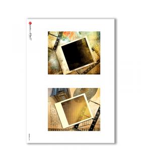 ALBUM-S-0008. Rice paper album small for decoupage.