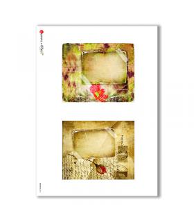 ALBUM-S-0010. Rice paper album small for decoupage.