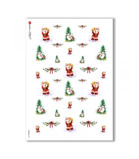 CHRISTMAS-0002. Papel de Arroz Navidad para decoupage.