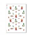 CHRISTMAS-0002. Carta di riso Natale per decoupage.