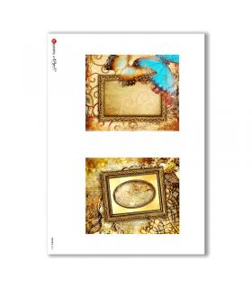 ALBUM-S-0015. Rice paper album small for decoupage.
