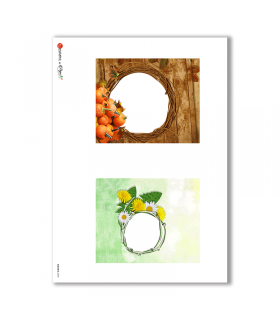 ALBUM-S-0020. Rice paper album small for decoupage.