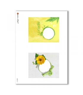 ALBUM-S-0021. Rice paper album small for decoupage.