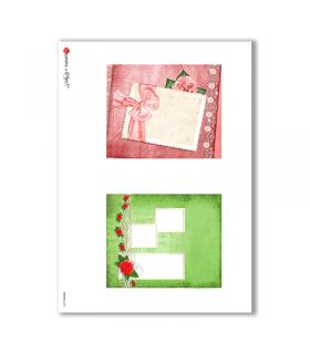 ALBUM-S-0025. Rice paper album small for decoupage.