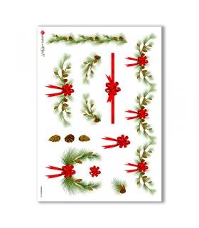 CHRISTMAS-0005. Papel de Arroz Navidad para decoupage.