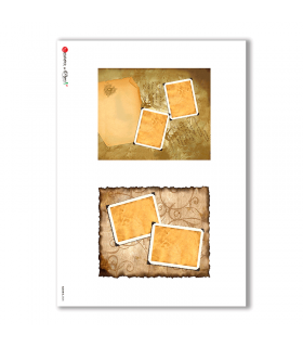 ALBUM-S-0028. Rice paper album small for decoupage.