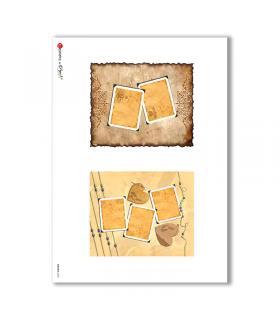 ALBUM-S-0030. Rice paper album small for decoupage.