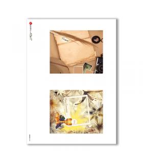 ALBUM-S-0031. Carta di riso album small per decoupage
