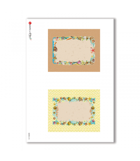 ALBUM-S-0036. Rice paper album small for decoupage.