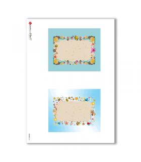 ALBUM-S-0037. Rice paper album small for decoupage.